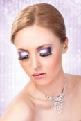 Svart-vita glamourögonfransar inkl. lim