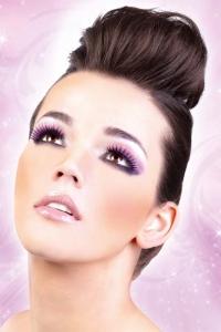 Svart-lilafärgade deluxe-ögonfransar inkl. lim