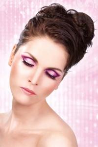 Svart-lilafärgade glamourögonfransar inkl. lim