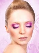 Svart-lilafärgade deluxe-ögonfransar