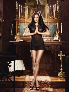Svart sexig nunnedräkt