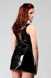 Sexig PVC klänning-lack
