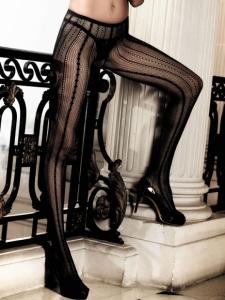 Svarta nylonstrumpbyxor Klara